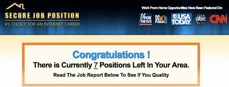 Secure Job Position – Legit Money Maker? (Reviewed)