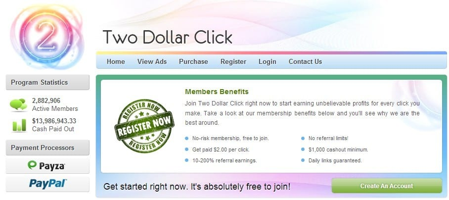 Two Dollar Click Scam My Two Cents Worth